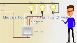 House Wiring 3 Gang Switch Wiring Diagram