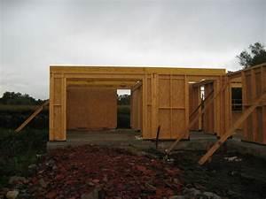 13 charpente du toit plat du garage et entree album With plan garage ossature bois toit plat