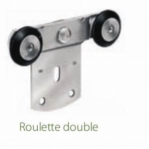 Roulette De Porte Coulissante : ferrure de porte coulissante pour fixation plat rob ~ Dailycaller-alerts.com Idées de Décoration
