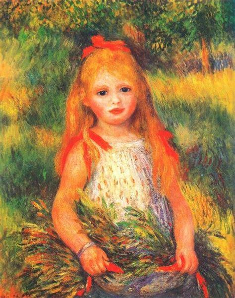Fille Avec Des Fleurs 1888 De Pierre Auguste Renoir 1841