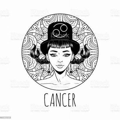 Zodiac Cancer Coloring Artwork Horoscope Adult Symbol