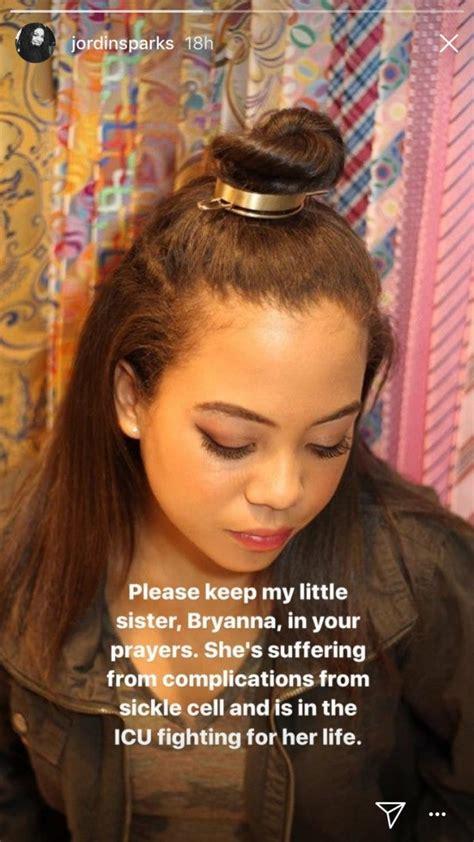 jordin sparks  year  stepsister dies