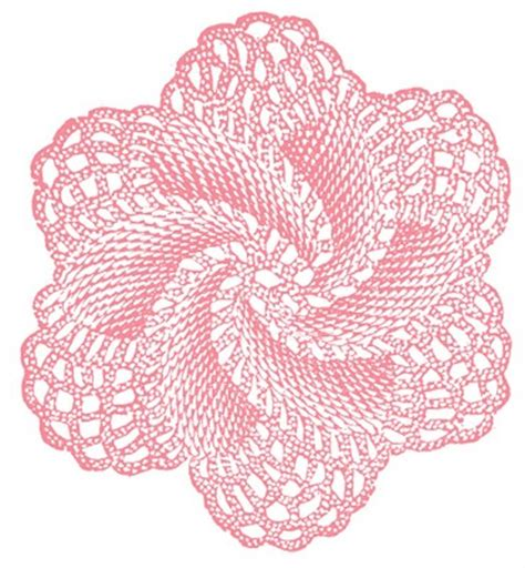 vintage clip art crocheted doily rose  graphics fairy