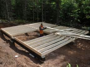 Deck Joist Spacing Nz by Diy Picnic Table With Cooler Storage Shed Floor Joist