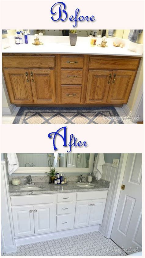 Ideas For A Bathroom Makeover by 17 Best Ideas About Bathroom Vanity Makeover On