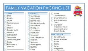 Family Beach Vacation Packing List Printable