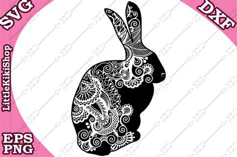 Free Zentangle Bunny Svg,mandala Rabbit Svg,zentangle
