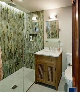 Small Bathroom With Marble Vanity Shower Room And Green