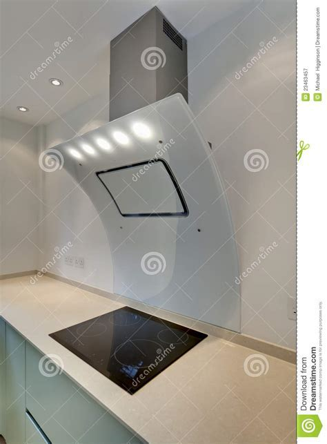 Contemporary cooker hood stock image. Image of hood