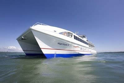 timetable changes for wightlink s catamaran service
