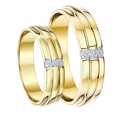 his hers 5 6 9ct yellow gold diamond wedding rings yellow gold at elma uk jewellery