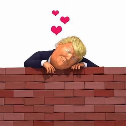 Trump Wall 3d Caricature Cartoon Digital Animation