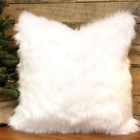 faux fur pillow cover winter white throw from