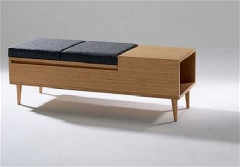 Storage Bench Modern by Mid Century Style Storage Bench Lift Up Padded Seat