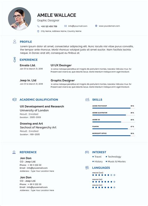Free Photoshop Resume Templates by Free Simple Resume Template In Photoshop Psd Format