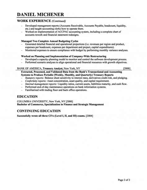 Entry Level Treasury Analyst Resume by Financial Analyst Resume