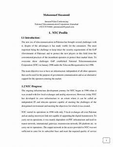 Ntc Internship Report