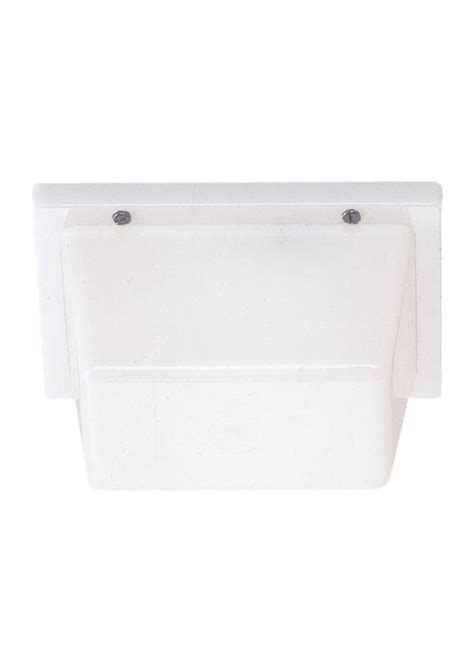 4325en3 68 one light outdoor wall ceiling mount white