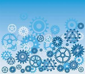 Vector gears background in blue, technical, mechanical