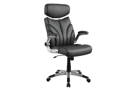 grey leather office chair 800164