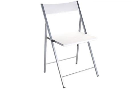 chaise pliante blanche bilbao chaises pliantes pas cher