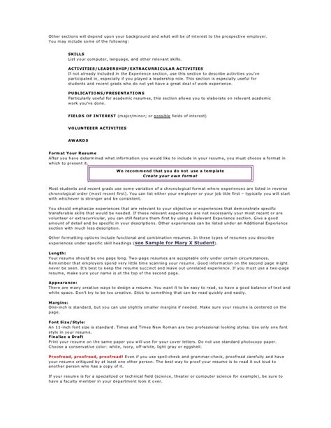 Should Resumes Be One Page Only by Should A Resume Be Only One Page Assignmentseditor Web Fc2