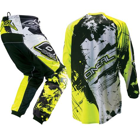 childrens motocross gear oneal new 2017 youth element shocker black neon yellow