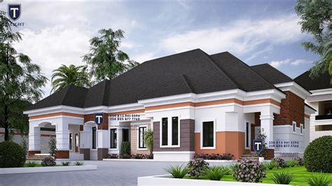 talightng  bedroom bungalow  nigeria beautiful house plans house plans mansion