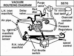 Jaguar Xj12 1987 Canadian Vacuum Lines - Xj
