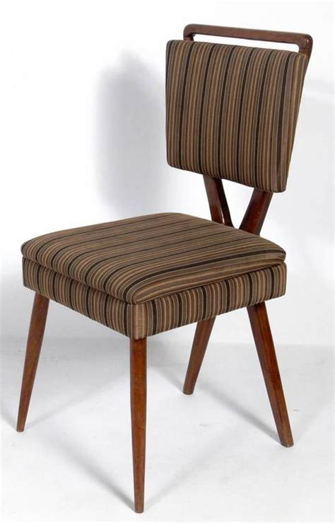 set of six x back italian dining chairs by gianni