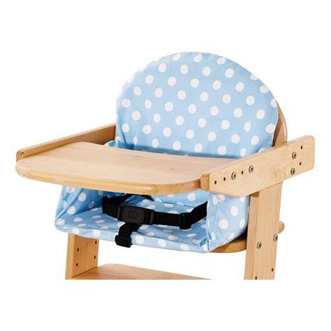 coussin pour chaise haute en bois housse de coussin pour chaise haute bleue pinolino