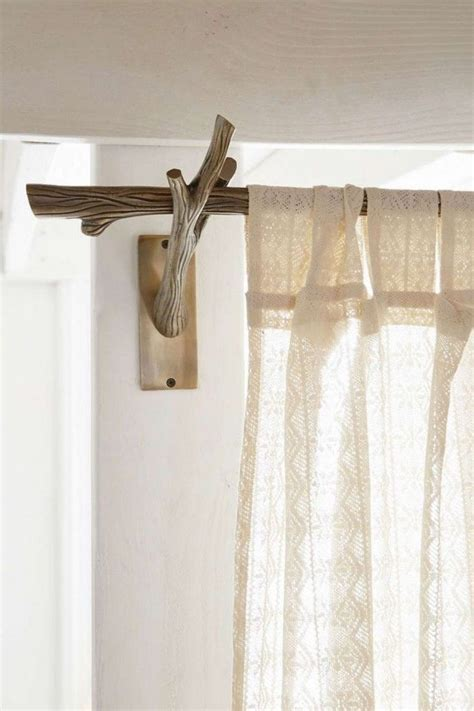 reclaimed wood rustic style curtain rod rustic style