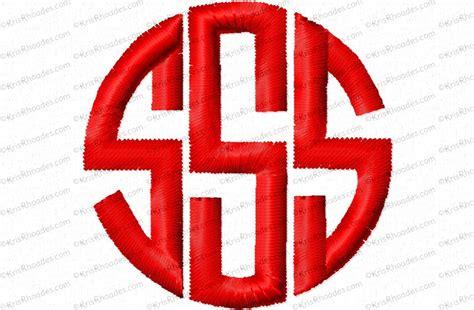 circle monogram font kris rhoades