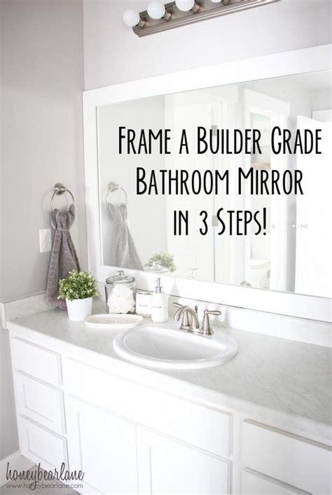 Builder Grade Bathroom Mirror by A Cozy Farmhouse Bathroom Update Builder Grade Bath And