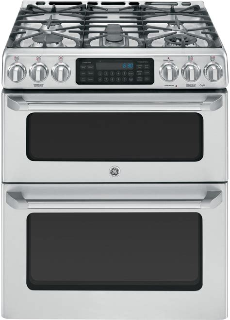 ge cgssetss     cafe series double oven gas range  precise simmer burner