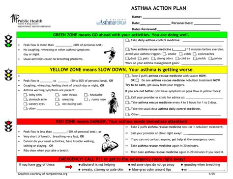 My Asthma Plan Template by My Asthma Plan Template