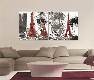Canvas prints panels wall art set square paris eiffel