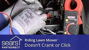 Riding Lawn Mower Doesn U2019t Crank Or Click