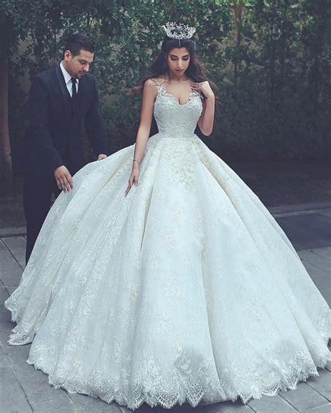Lace Wedding Gownsprincess Wedding Dressball Gowns
