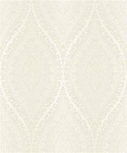 Kismet Cream Glitter Teardrop Damask Textured Vinyl ...