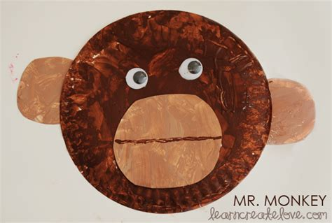 paper plate monkey buttons and paint obsessions distractions monkey 2637