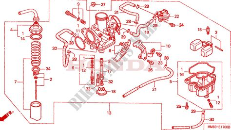 Wiring Diagram For Honda Recon Atv by 2001 Honda Recon Trx 250 Parts Diagram Honda Wiring