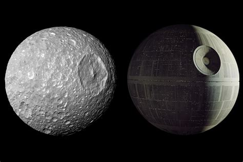 Saturn's Death Star Look-Alike