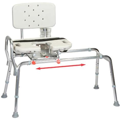 Bathtub Transfer Bench Swivel Seat by Sliding Transfer Bench With Cut Out Swivel Seat