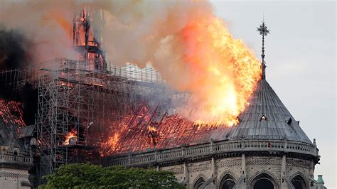 notre dame fire ashes fell  tears  indianapolis
