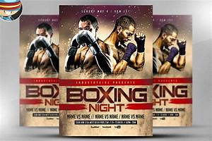 boxing night flyer template flyer templates on creative With boxing poster template free