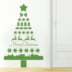 nordic christmas tree wall sticker by nutmeg notonthehighstreet com