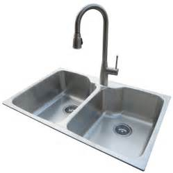 kitchen faucet and sink combo shop american standard 22 in x 33 in silver basin drop in or undermount 1 commercial