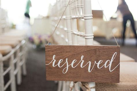 wooden reserved table signs reserved sign wedding reserved sign reserved wedding sign