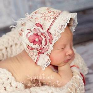 Baby Bonnet Christmas Prop from